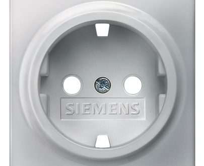 Tecla enchufe Siemens Delta aluminio metalizado