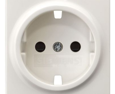 Tecla enchufe Siemens Delta blanco titán