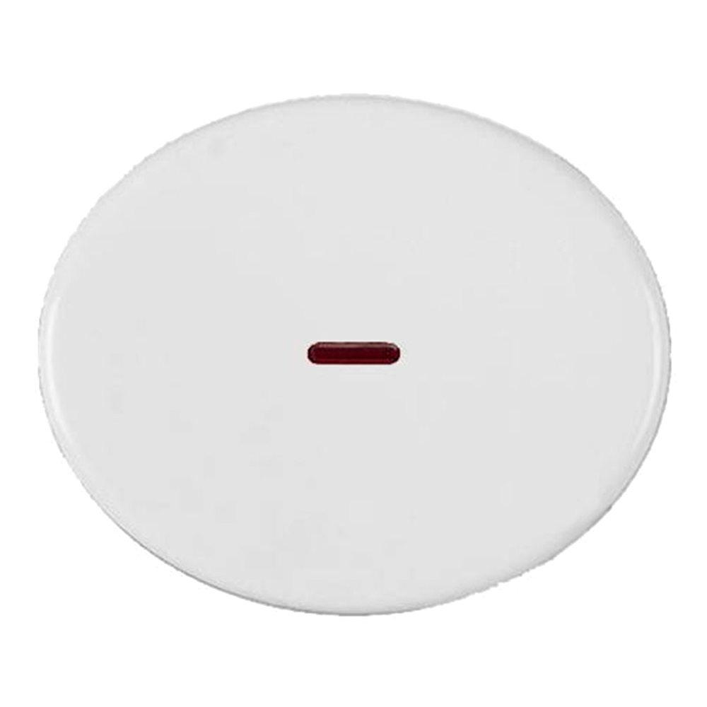 Tecla interruptor bipolar con visor Niessen Tacto blanca