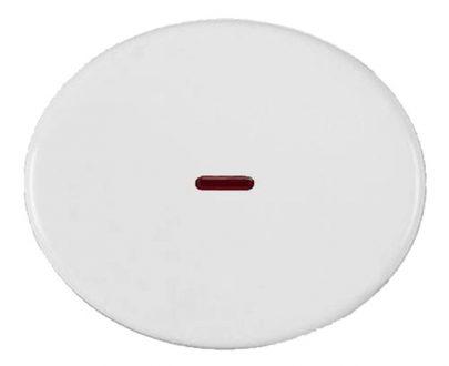 Tecla interruptor con visor Niessen Tacto blanca