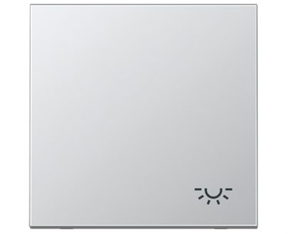 Tecla pulsador luz Jung LS 990 aluminio