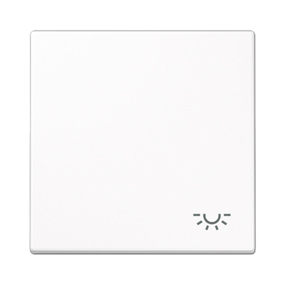 Tecla pulsador luz Jung LS 990 blanco alpino