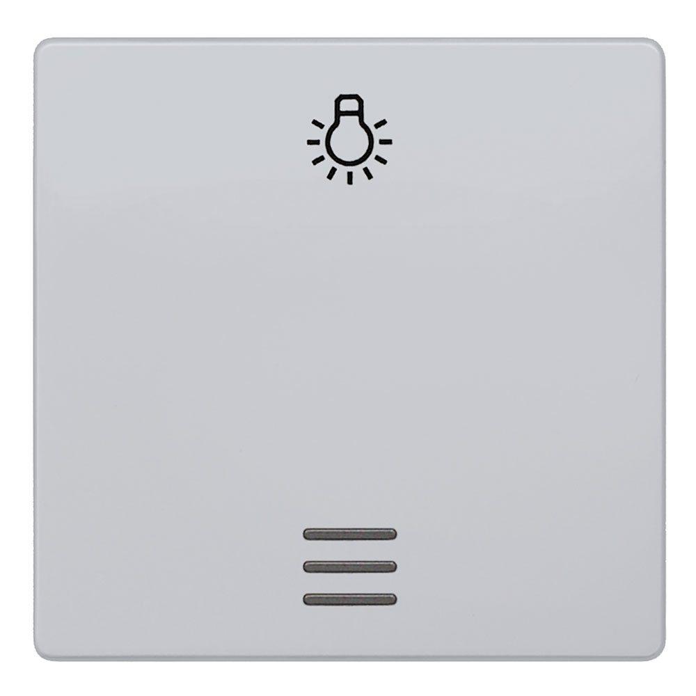 Tecla pulsador luz Siemens Delta aluminio metalizado