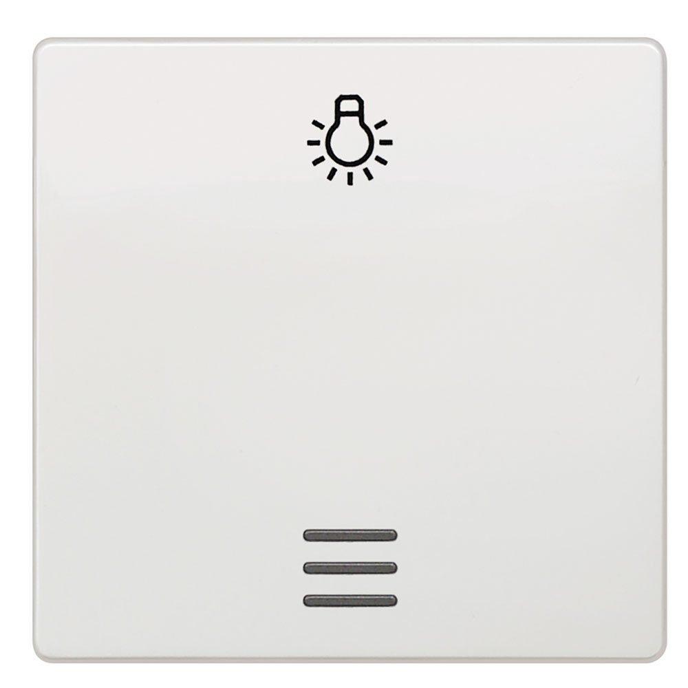 Tecla pulsador luz Siemens Delta blanco titán