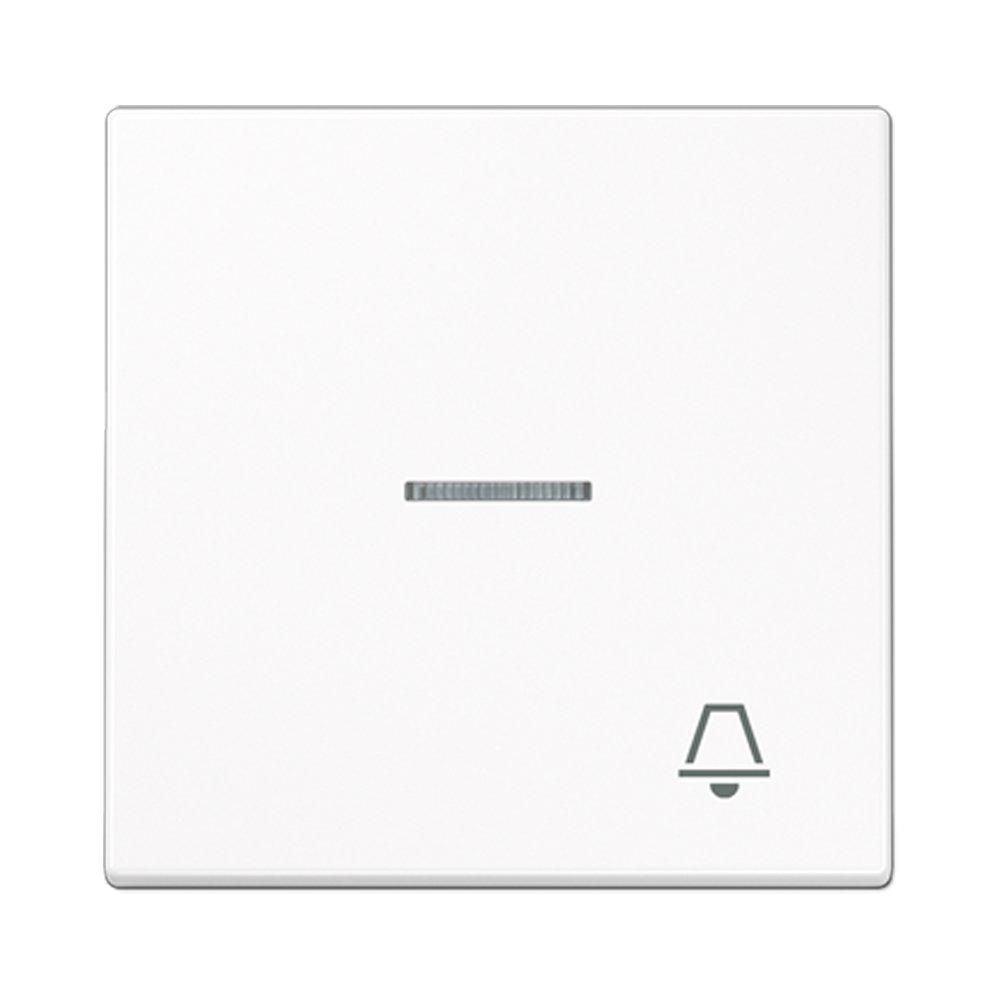 Tecla pulsador timbre visor Jung LS 990 blanco alpino