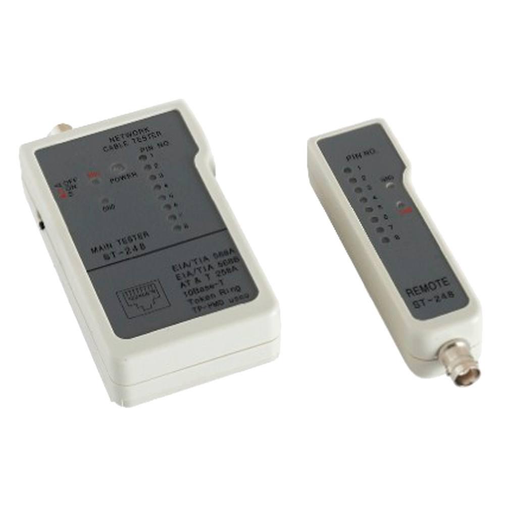 Tester de cableado 8 leds RJ45 BNC