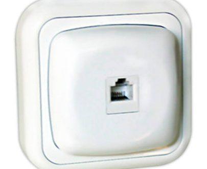 Toma datos informática superficie blanca