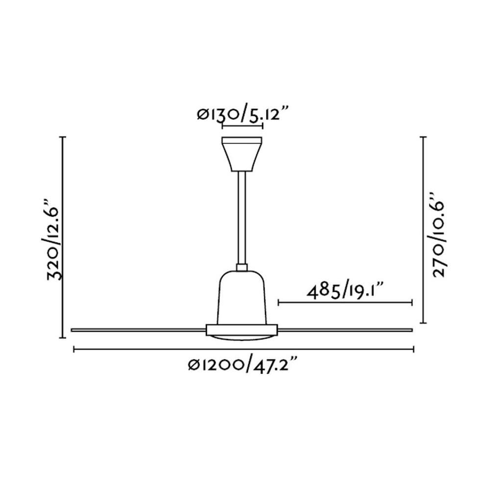 Ventilador de techo Eco Indus dimensiones